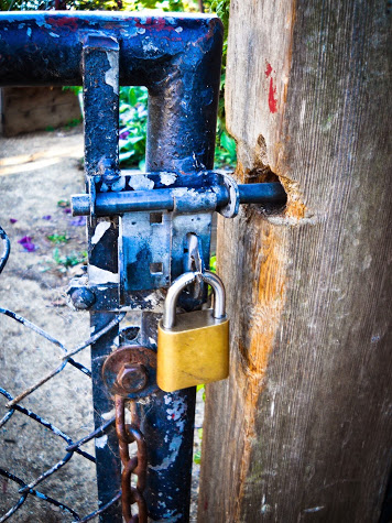 a locked gate
