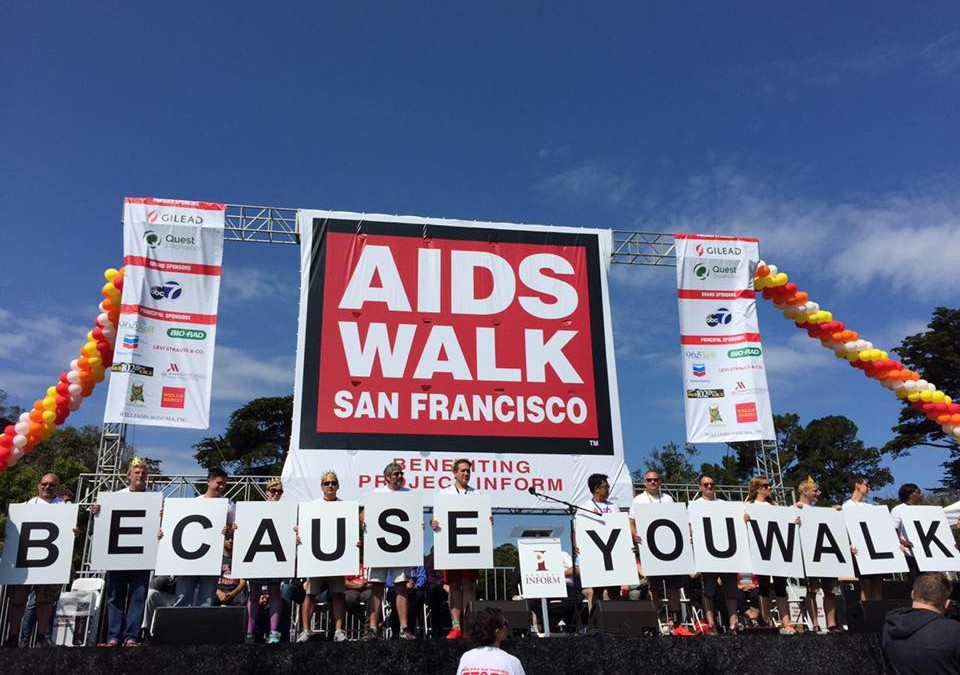 AIDS Walk San Francisco Because You Walk stage