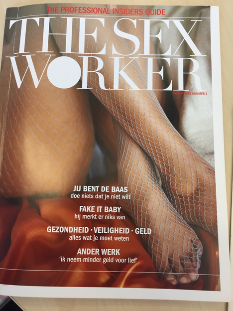 "magazine cover of ""The Sex Worker"""