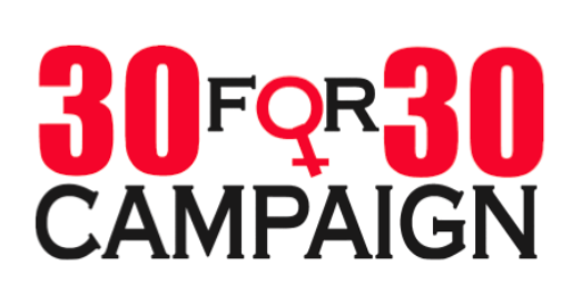 30 for 30 Campaign logo