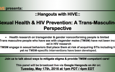 ::Hangouts with HIVE:: Trans MSM Sexual Health