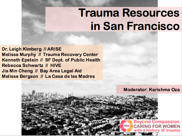 Trauma Resources in San Francisco slide