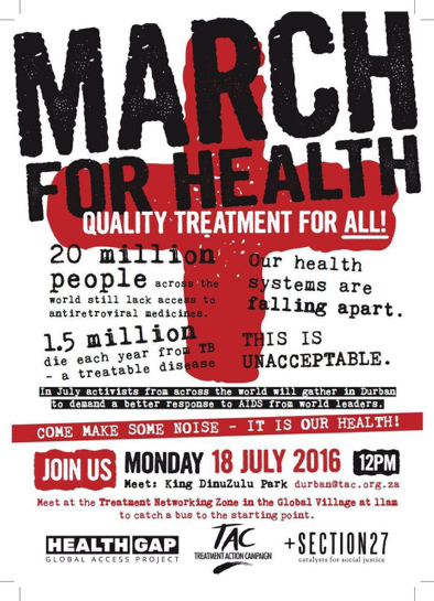 March for Health flyer