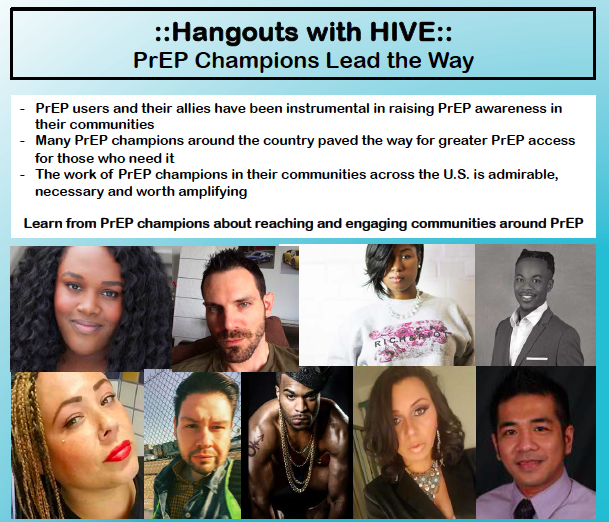 Hangouts with HIVE: PrEP Champions Lead the Way