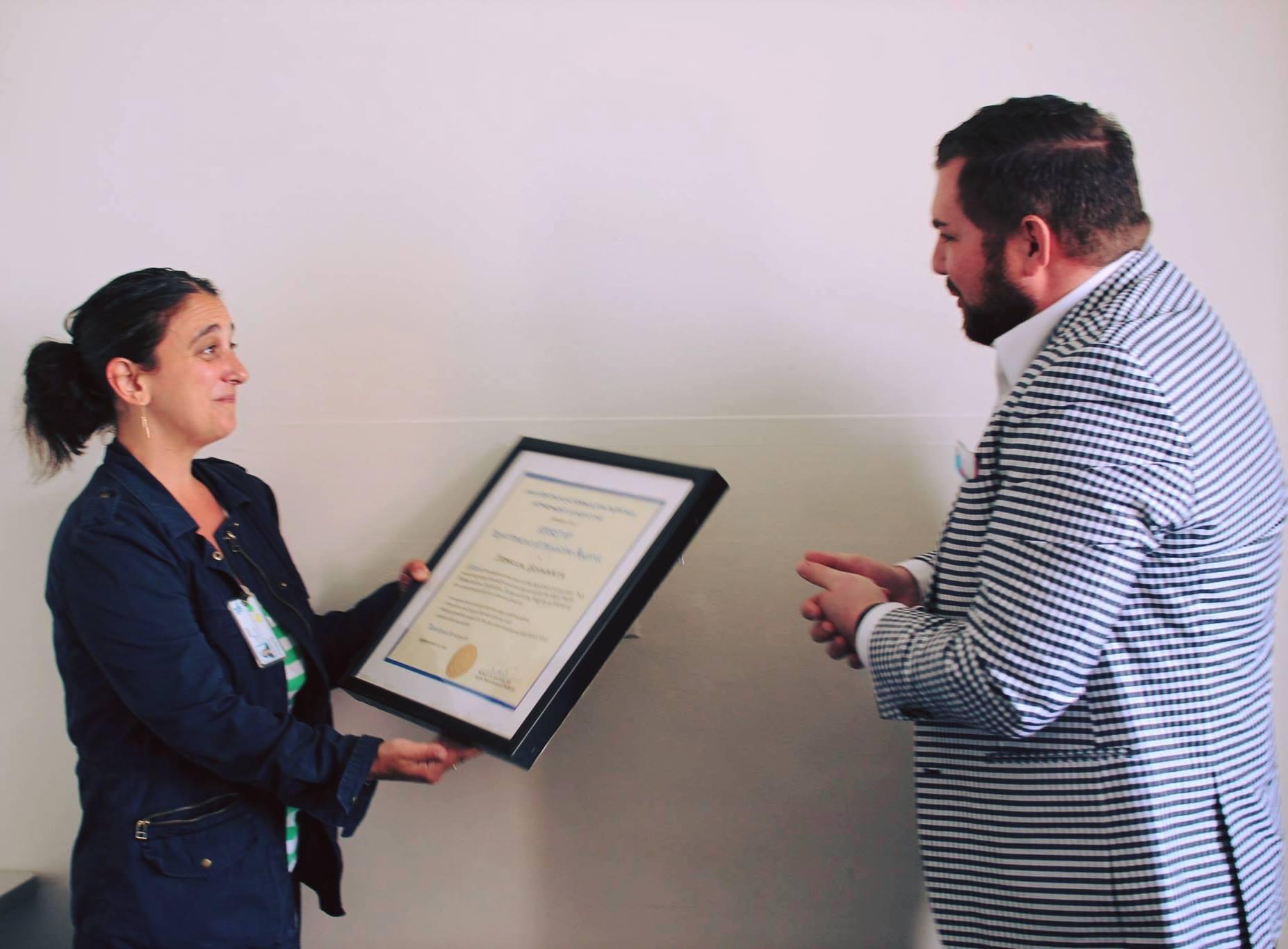 HIVE Social Worker Becca Schwartz Receives UCSF Department